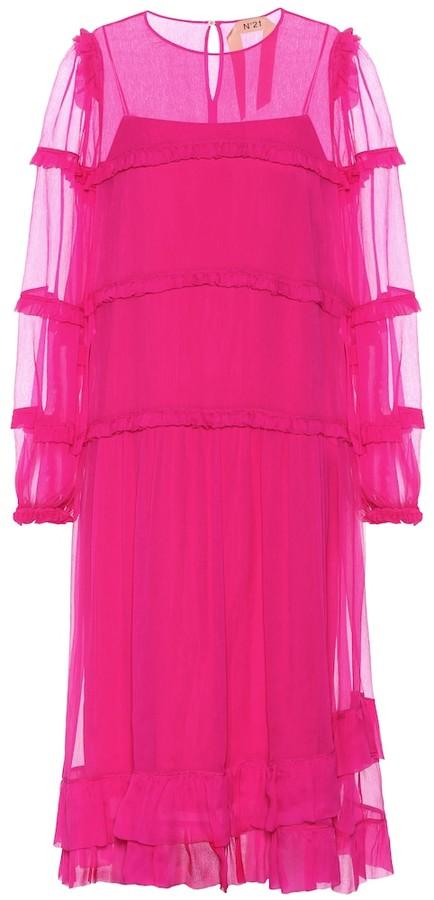 N°21 Silk-chiffon dress