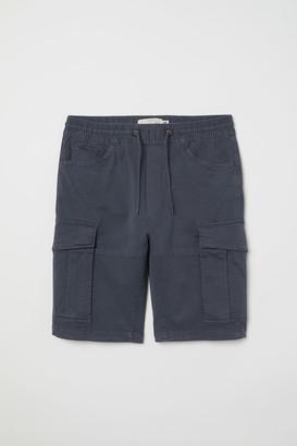 H&M Cotton Cargo Shorts - Blue