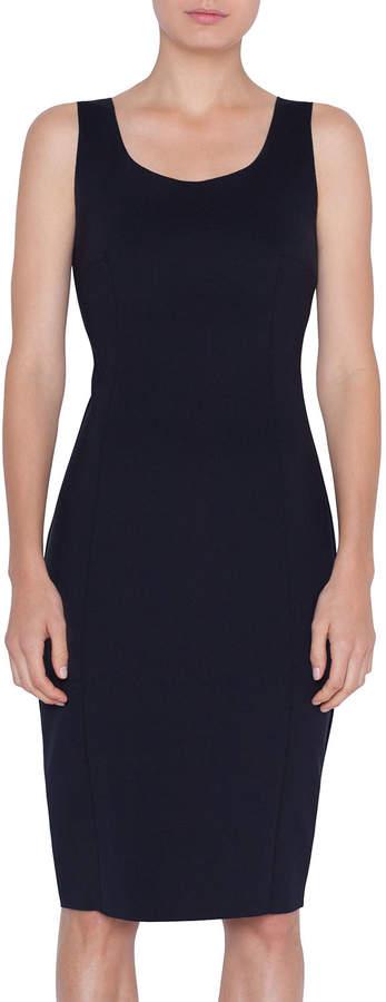 Akris Punto Sleeveless Scoop-Neck Fitted Sweatshirt Dress