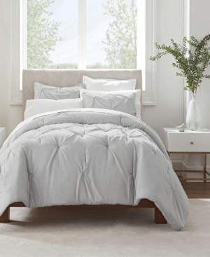 Serta Simply Clean Antimicrobial Pleated Twin Extra Long Comforter Set, 2 Piece Bedding