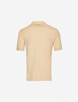 Prevu Zipped cotton polo shirt