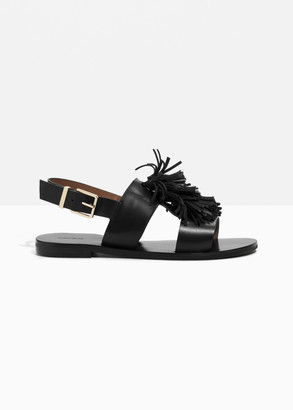 And other stories Tassel Leather Sandal