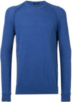 Roberto Collina ribbed trim sweatshirt - men - Cotton/Polyamide - 50