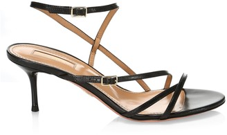 Aquazzura Carolyne Leather Strappy Sandals