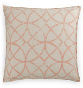 Hotel Collection Textured Lattice Linen European Sham