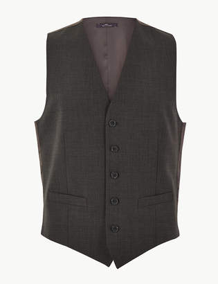 M&S CollectionMarks and Spencer The Ultimate Charcoal Tailored Fit Waistcoat