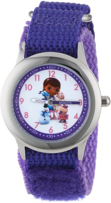 "Disney Kids' W000912 ""Doc McStuffins"" Stainless Steel Time Teacher Watch"