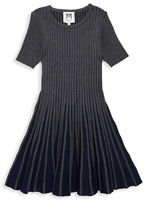 Milly Little Girl's Ribbed Fit--Flare Dress