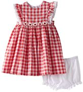 Baby Girl Marmellata Classics Gingham Flower Dress