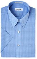 Pierre Cardin Short Sleeve Blue Check Dress Shirt