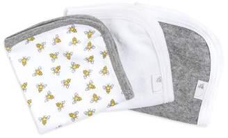 Burt's Bees Set of 3 Honey Bee Organic Washcloths