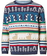 John Lewis Boys' Christmas Character Knit Jumper, Multi