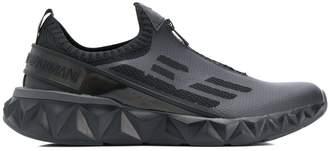 Emporio Armani Ea7 knit zip-up sneakers