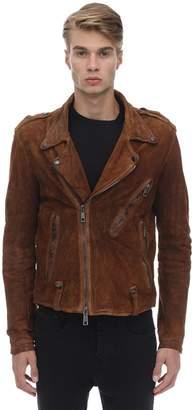Giorgio Brato Chiodo Washed Leather Jacket