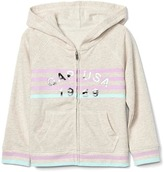 Gap Embellished logo zip hoodie