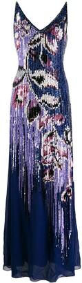 Emilio Pucci sequin embellished peony dress