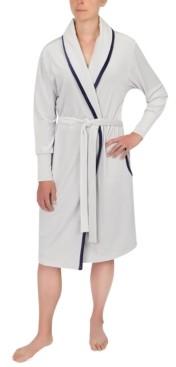 Sesoire Contrast-Trim Wrap Robe