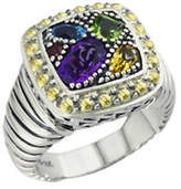 Effy Sterling Silver 18K Yellow Gold And Multi-Colour Gemstone Ring