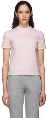 Thom Browne Pink Contrast Stitch T-Shirt