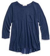 Soprano Girl's Pleat Back Long Sleeve Top