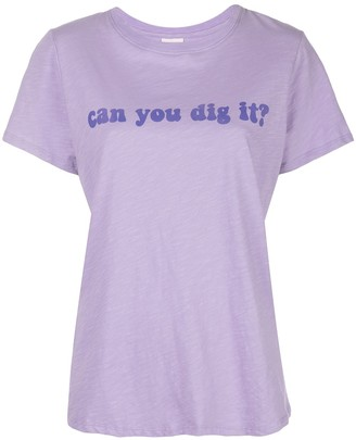 Cinq à Sept can you dig it? printed T-shirt