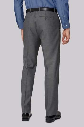 Moss Esq. Regular Fit Silver Sharkskin Pants