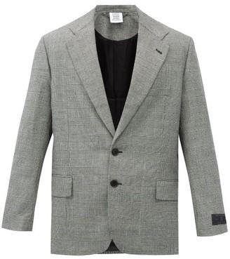 Vetements Single-breasted Checked Wool-blend Tweed Jacket - White Black