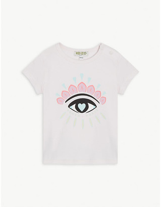 Kenzo Eye logo print cotton-blend T-shirt 6-36 months