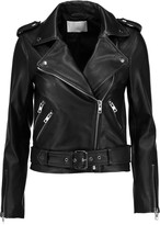 W118 by Walter Baker Allison embroidered leather biker jacket