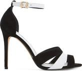 Dune Magpie suede heeled sandals