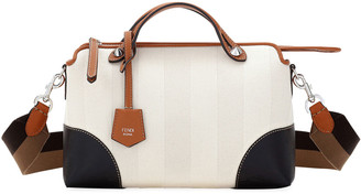 Fendi By The Way Medium Colorblock Pequin Satchel Bag