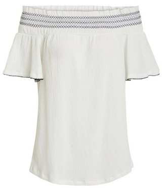 Dorothy Perkins Womens **Vila White Off Shoulder Top, White