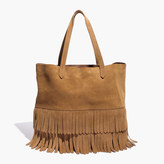 Madewell The Transport Tote: Suede Fringe Edition