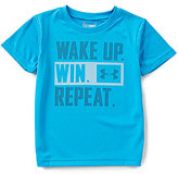 Under Armour Little Boys 4-7 Wake Up Win Repeat Short-Sleeve Tee