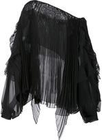 Alexandre Vauthier longsleeved pleated blouse