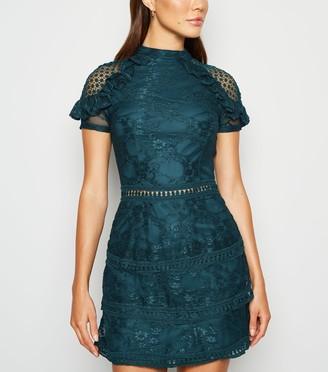 New Look AX Paris Lace Tiered Mini Dress