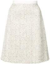 Giambattista Valli A-line tweed skirt