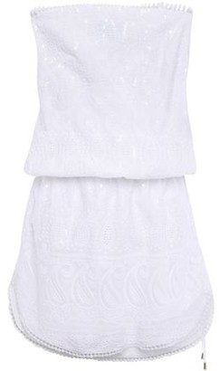 Melissa Odabash Tia Strapless Sequin-embellished Broderie Anglaise Cotton Mini Dress