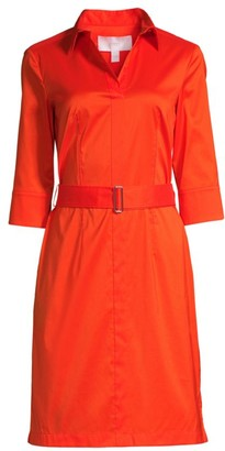 BOSS Daliri1 Belted Poplin Shirtdress