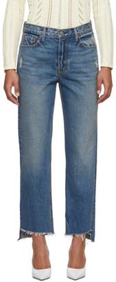 GRLFRND Blue Helena Crop Jeans