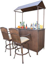 Panama Jack Tiki Bar Barstool Set (3 PC)