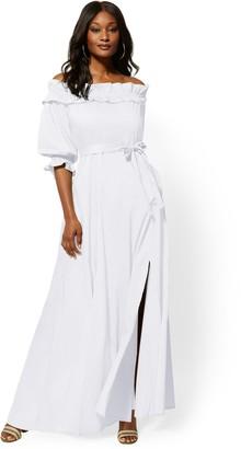 New York & Co. Off-The-Shoulder Maxi Dress