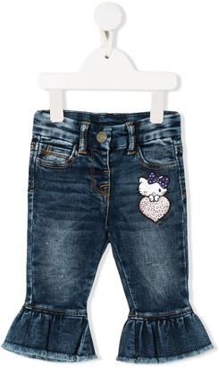 MonnaLisa ruffled Hello Kitty jeans