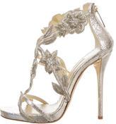 Oscar de la Renta Tatum Metallic Sandals