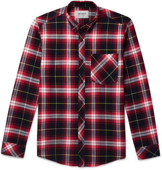 Carhartt Wip Phil Button-Down Collar Checked Cotton-Flannel Shirt