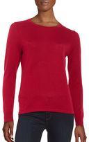 Lord & Taylor Petite Crewneck Merino Wool Sweater