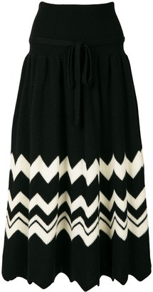 Comme des Garcons Pre Owned 1989 zig-zag knitted skirt
