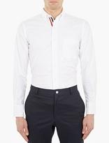 Thom Browne White Cotton Oxford Shirt