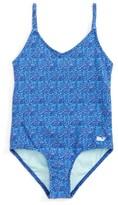 Vineyard Vines Toddler Girl's Palmetto Print One-Piece Swimsuit