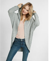 Express Textured Stitch Hooded Cocoon Cover-up